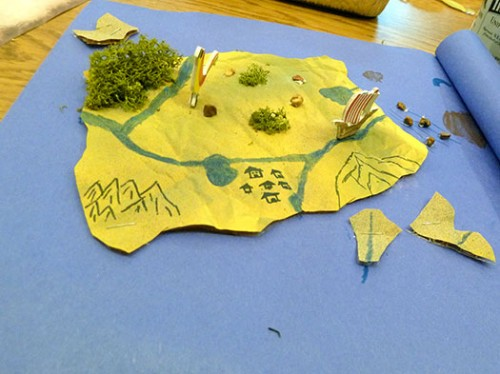 Beware Of Traps And Sea Monsters Bookmaking With Kids - Map making for kids