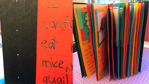 1st grade bookmaking with kids for Creative ways to make a book for a project